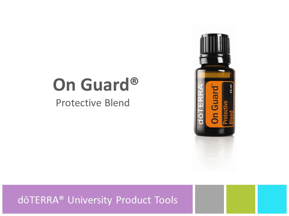 dōTERRA® Product Tools On Guard® Protective Blend dōTERRA® Product Tools dōTERRA® University Product Tools