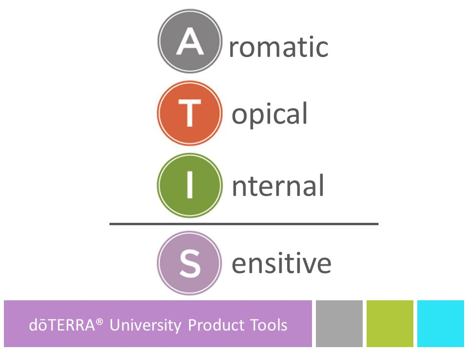 romatic opical nternal ensitive dōTERRA® Product Tools dōTERRA® University Product Tools