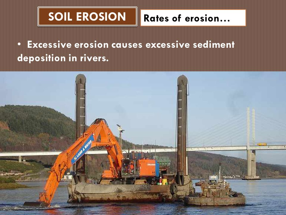 SOIL EROSION Rates of erosion… Wind can also carry displace large amounts of soil if the land becomes dry from a severe drought.