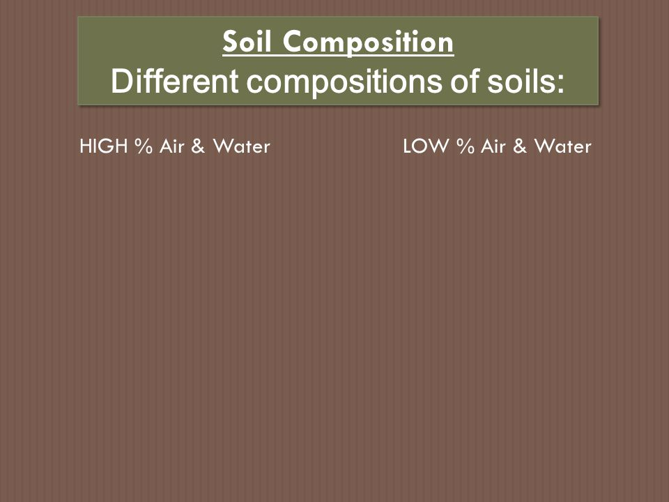 Soil Texture = proportions of different particle sizes U.S.