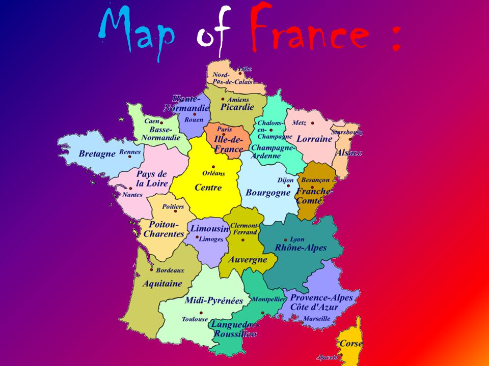 Map of France :