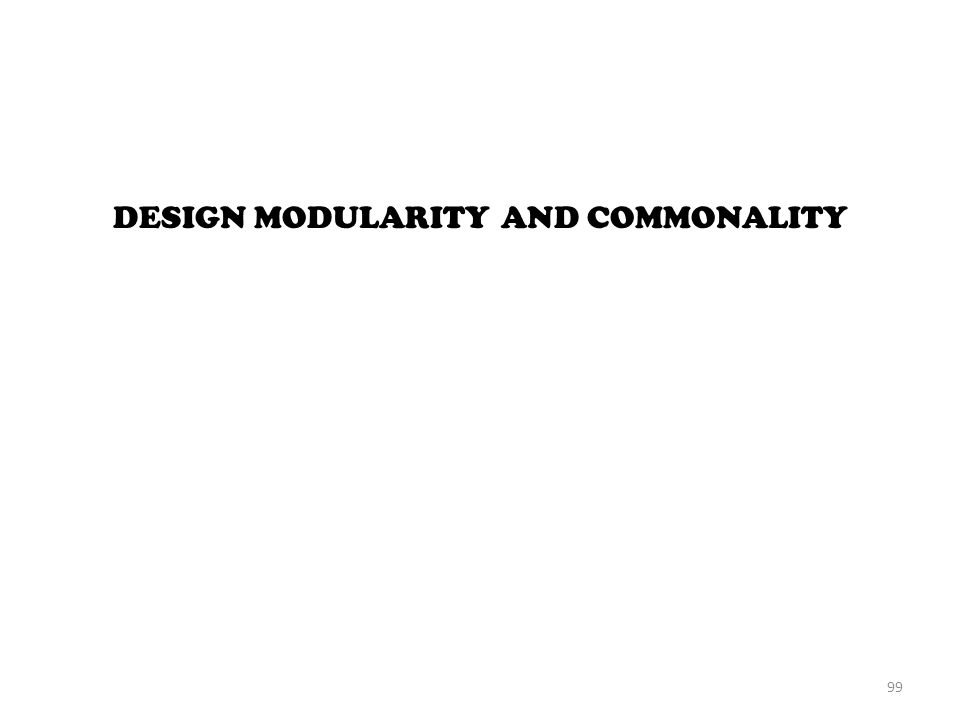 DESIGN MODULARITY AND COMMONALITY 99