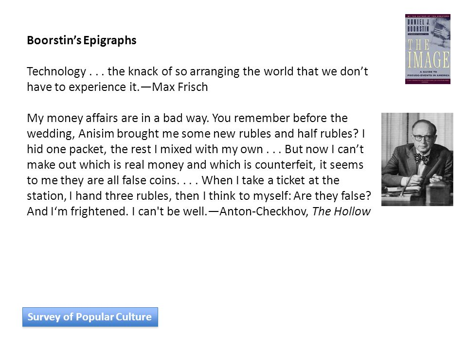 Boorstin's Epigraphs Technology...