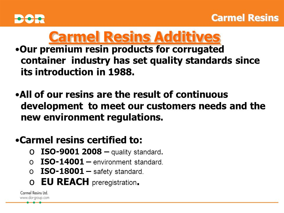 Carmel Resins CP-88 - series