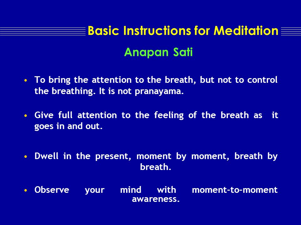 Meditation over an object, place or thought object, place or thought