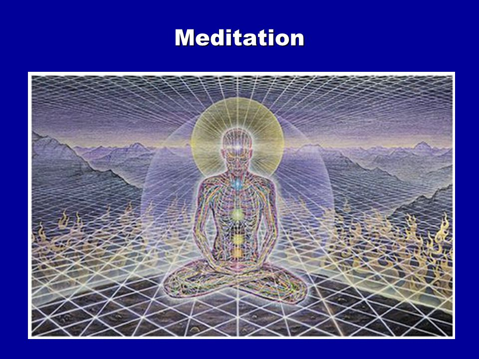 Meditation techniques Focus on Breathing Focus on an object Focus on a sound Focus on a thought Focus on sensual object Focus on sensory perception Imagery Soul meditation