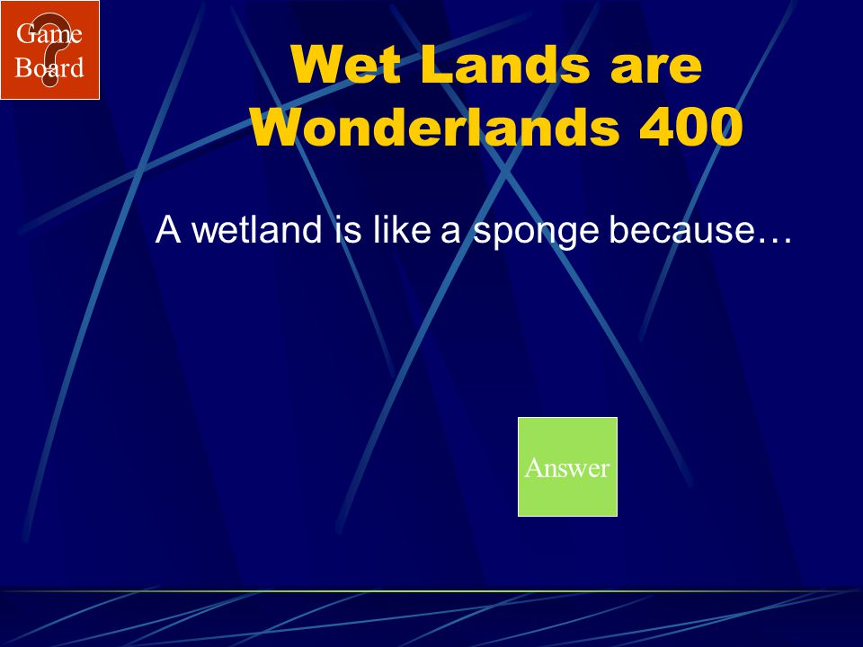 Game Board Wet Lands are Wonderlands 300A What is a Secchi Disk?