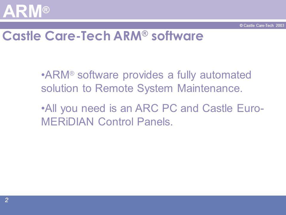© Castle Care-Tech 2003 13 www.castle-caretech.com A Castle Care-Tech Presentation ARM ®