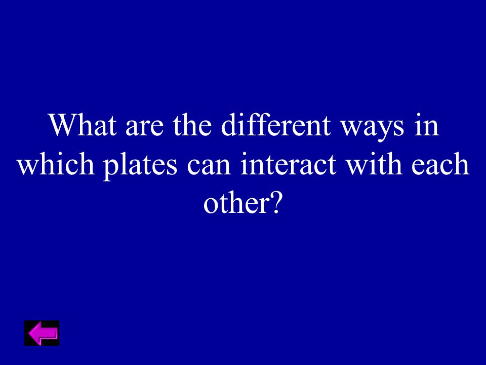 What are the different ways in which plates can interact with each other?