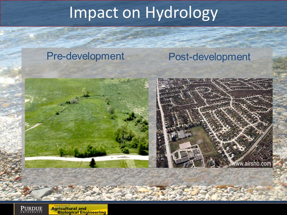 Impact on Hydrology Pre-development Post-development