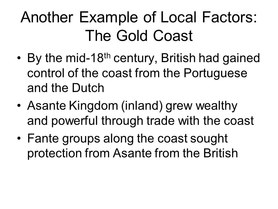 Settler Colonies Possible primarily in Mediterranean climates, although Portuguese settled on coasts of Angola and Mozambique in the 16 th and 17 th centuries Algeria claimed by France from 1830, settlement extensive but restricted primarily to coast.