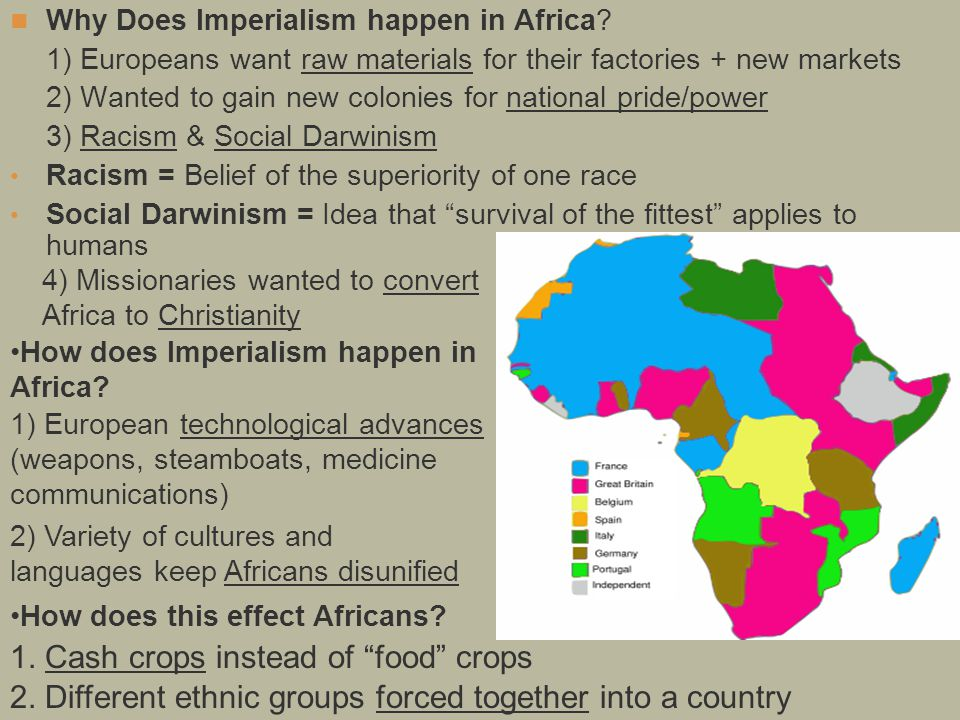 Why Does Imperialism happen in Africa.