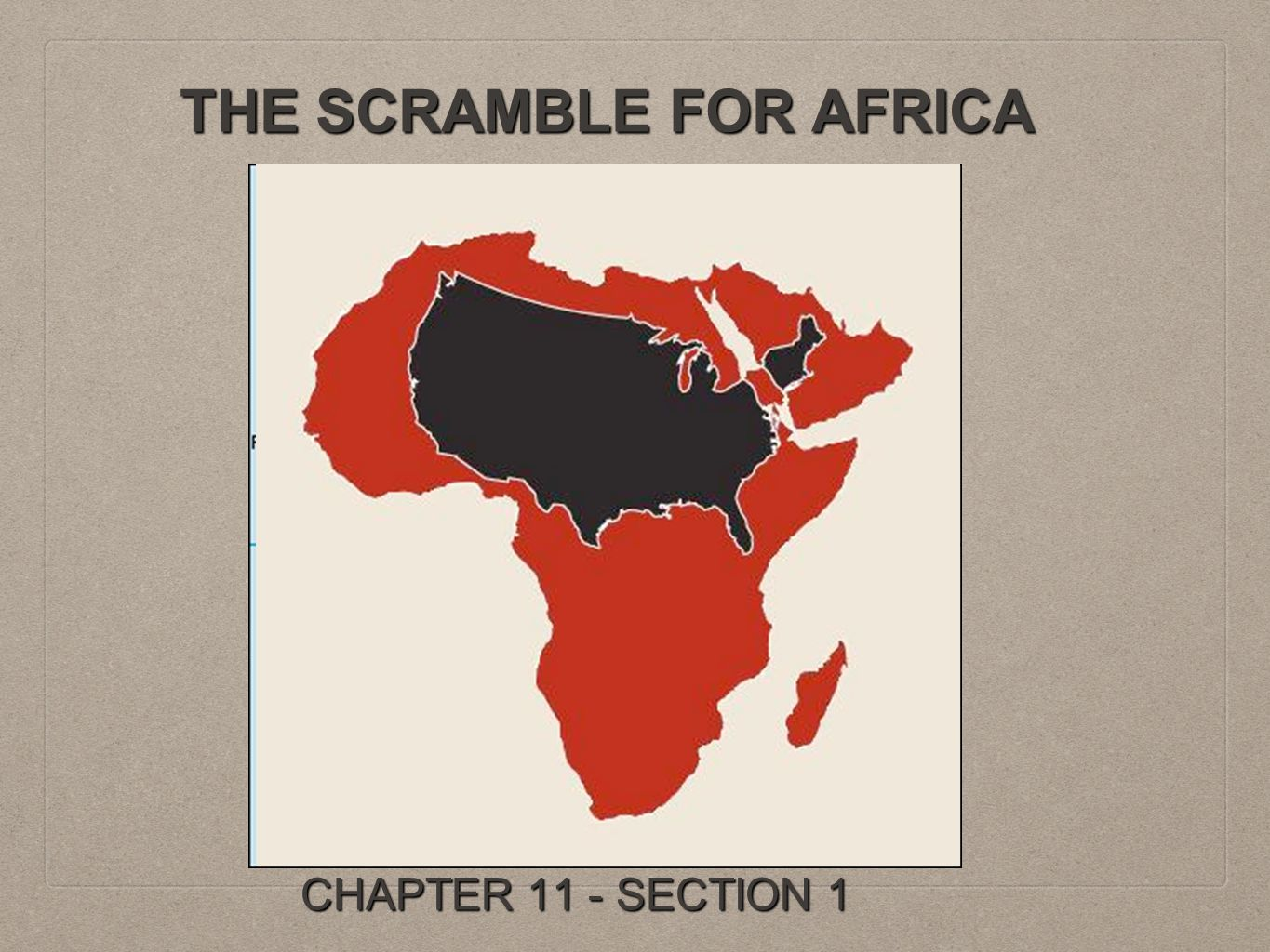 THE SCRAMBLE FOR AFRICA CHAPTER 11 - SECTION 1