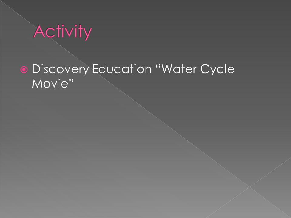  Discovery Education Water Cycle Movie