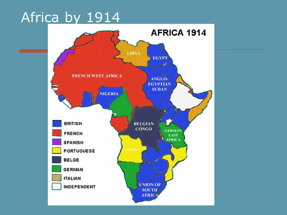 Resources  Africa, 1914. Map.World History: The Modern Era.