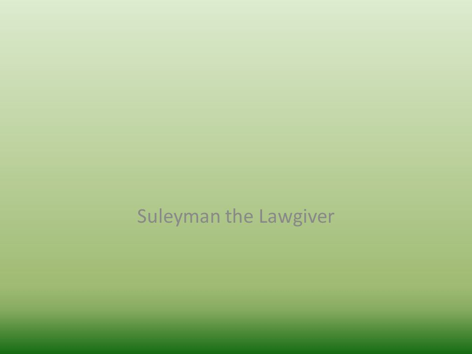 Suleyman the Lawgiver