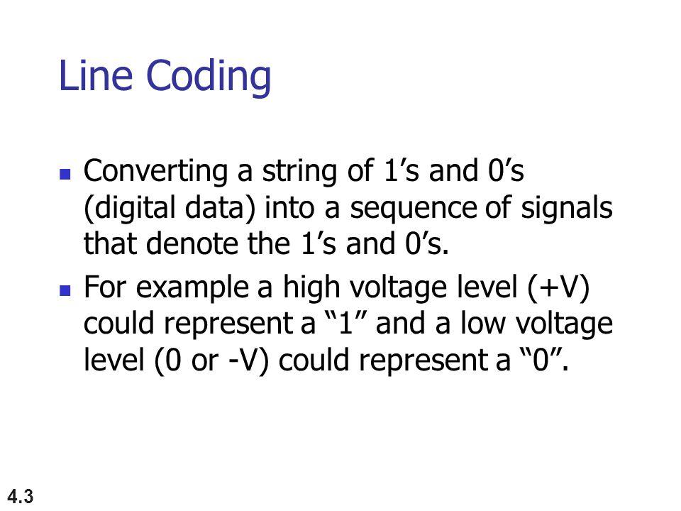 4.24 Figure 4.6 Polar NRZ-L and NRZ-I schemes