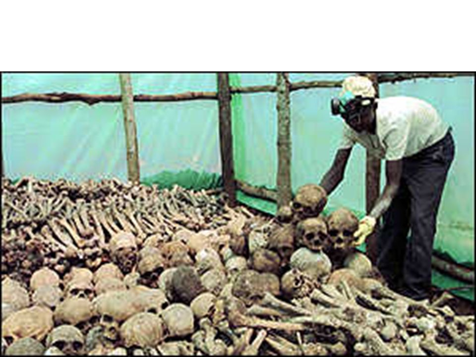 Africa – Civil Unrest Tutsi refugees form Rwandan Patriotic Front 1994: Hutus slaughter close to a million Tutsis RPF fights back and takes over government