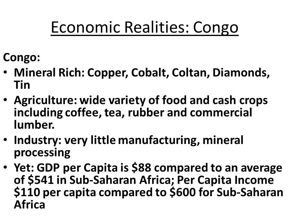 Economic Realities of Contemporary Africa: Poverty ( Numbers and Percent of People living on $2 or less a day) World Region 199019992015 #*#*%#%#% S-S Afr386764807561870 L.