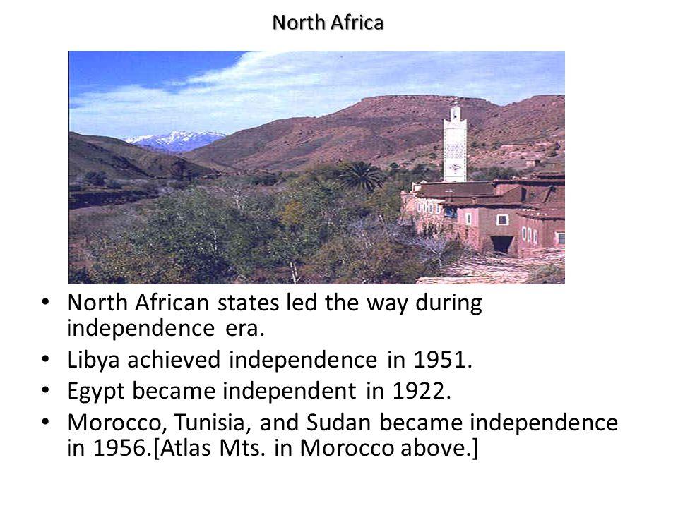 British Africa Independence in British Africa was more complex.