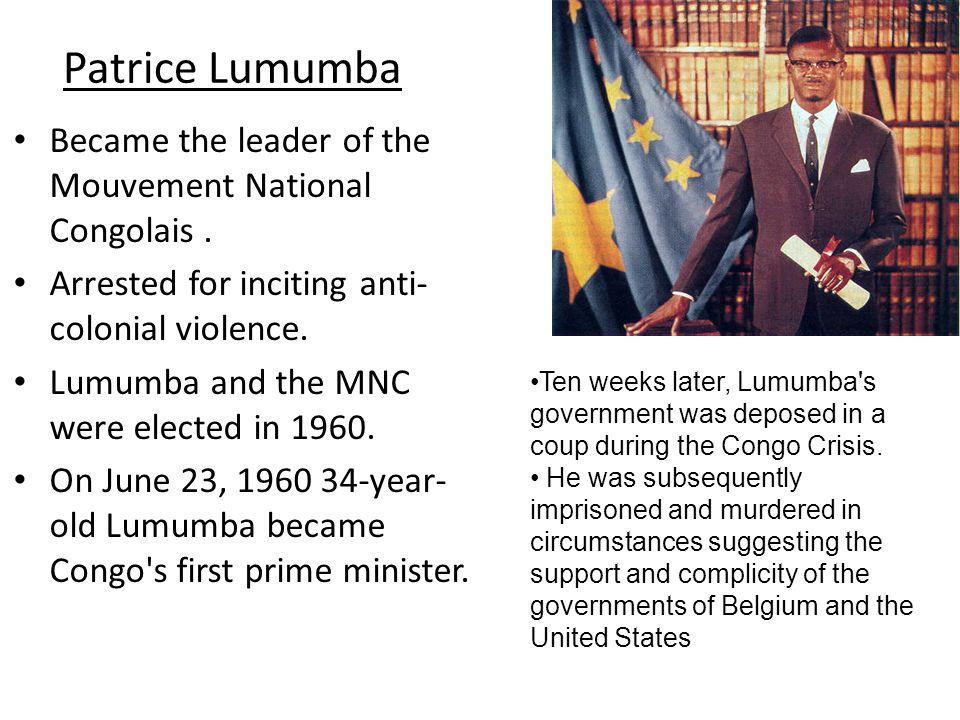 FORMER BELGIAN POSSESSIONS Belgium – 3 territories: Rwanda, Burundi, Belgium Congo Granted independence in 1960.
