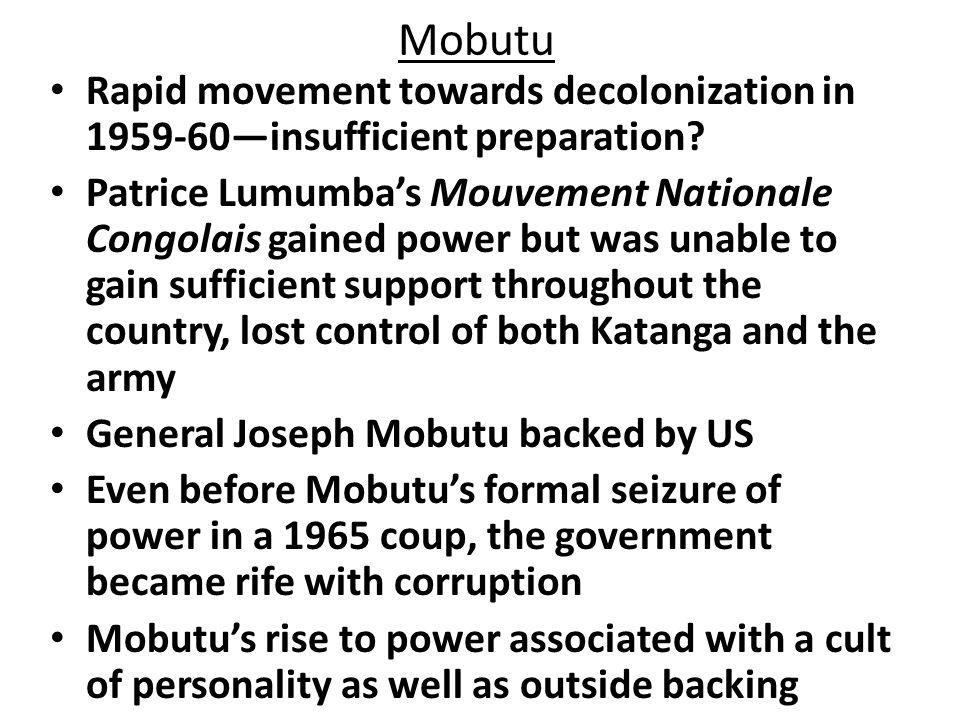 Mobutu Sese Seko Ruled 1965-1997.Ruled 1965-1997.