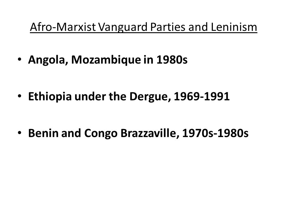 Independence and One Party States Attempts at Intra-Party democracy: Ghana, Tanzania, Zambia- 1970s to 1980s.
