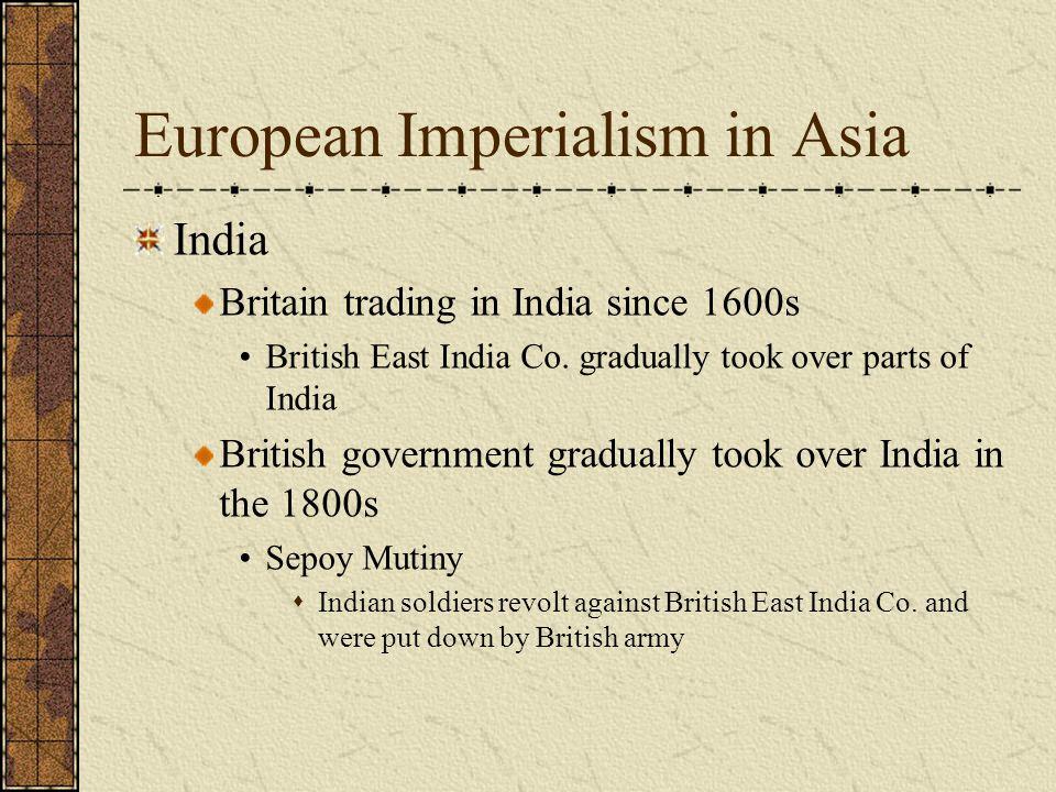 European Imperialism in Asia
