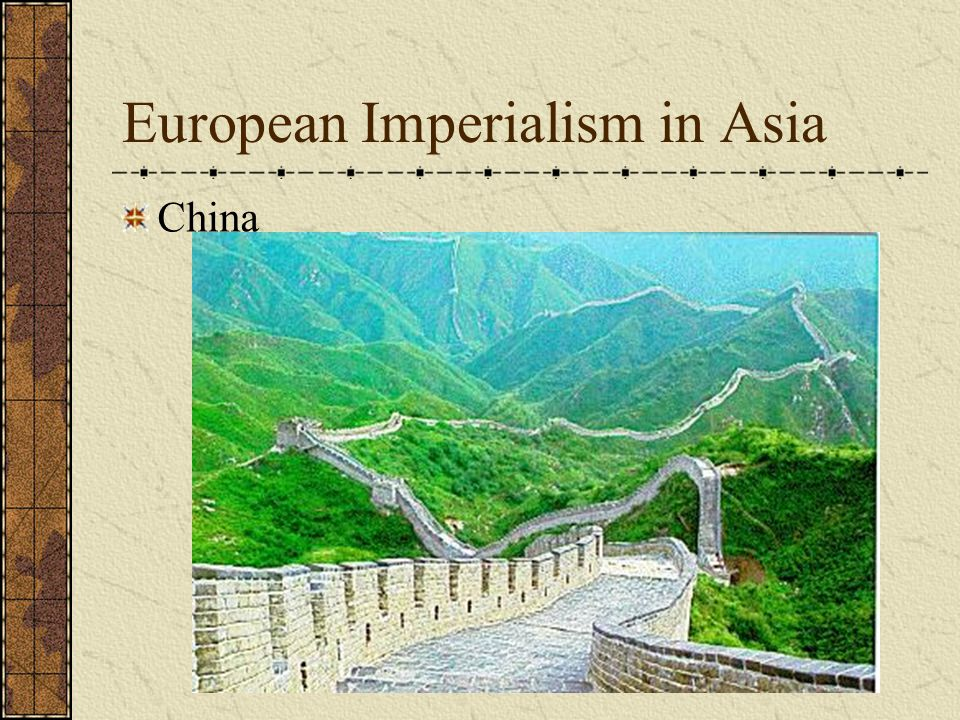 European Imperialism in Asia Consequences of British Imperialism in India British educational system established Spread of English language Railroads