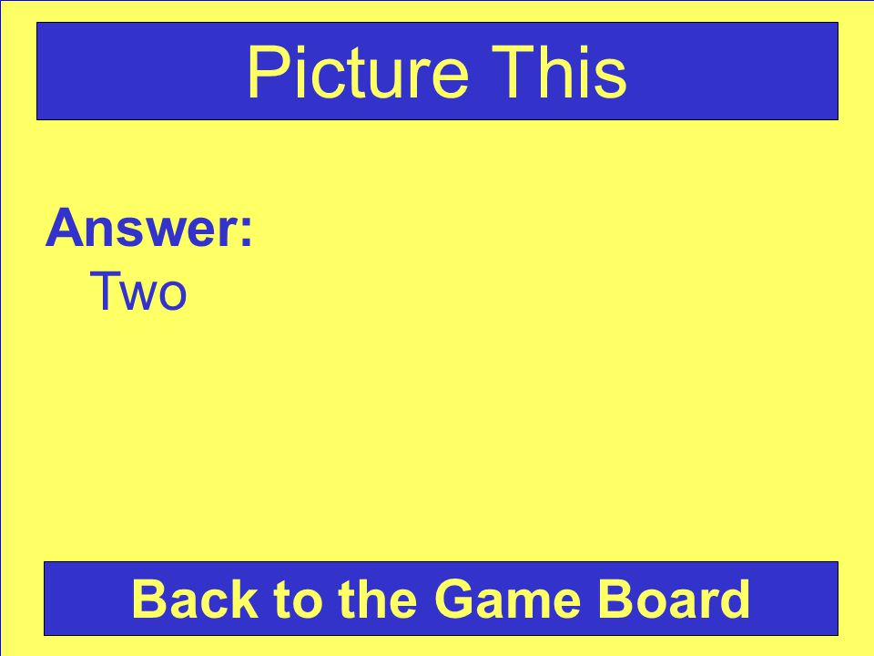 Answer: Two Back to the Game Board Picture This