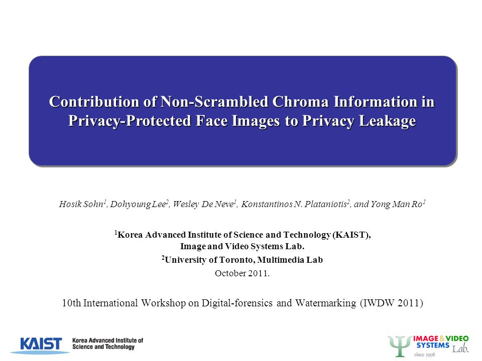 ASSESSMENT OF CHROMA-INDUCED PRIVACY LEAKAGE -12-
