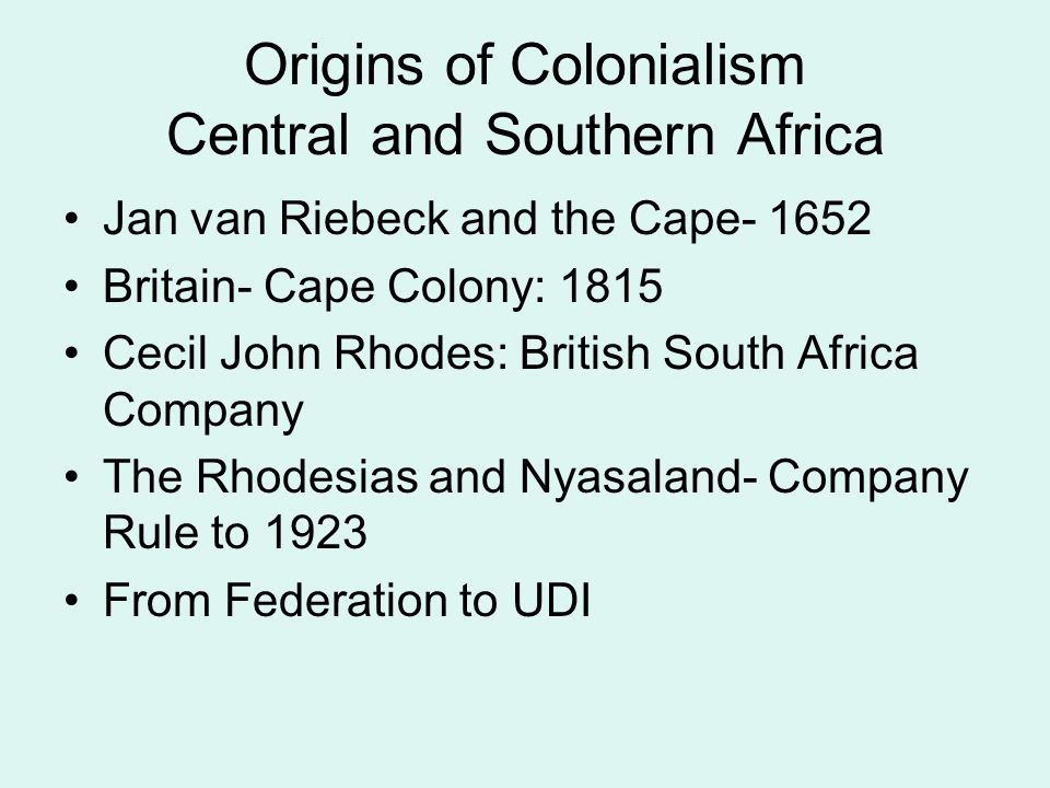 Styles of Colonialism- Tactics and Methods Force, Trickery, sub-imperialism (client kingdoms) and Authoritarian Prefectoralism  Carl Peters and his Bags full of Treaties  Sir Samuel Baker and his Hungarian Wife Stimulate alliances and rivalries among different ethnic and religious groups Use of Indigenous Forces: Create African Armies Use puppet rulers, appoint chiefs in stateless systems, use District Commissioners (Prefects)