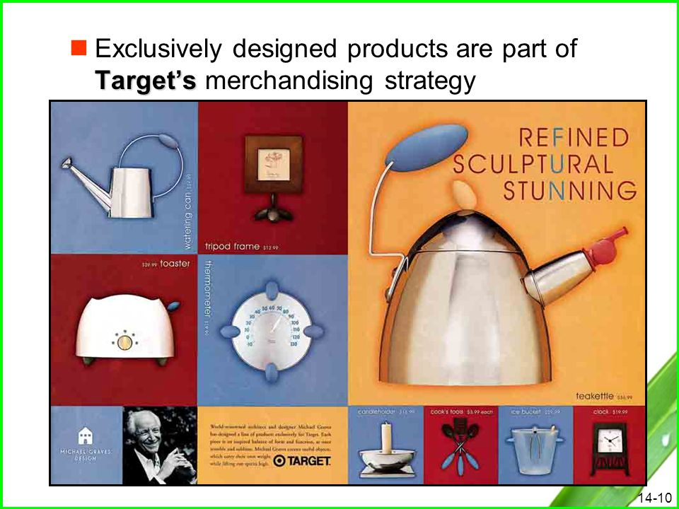 14-10 Target's Exclusively designed products are part of Target's merchandising strategy