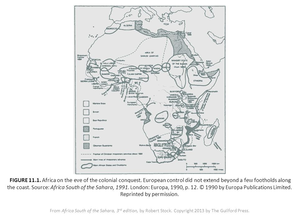 FIGURE 11.1. Africa on the eve of the colonial conquest.