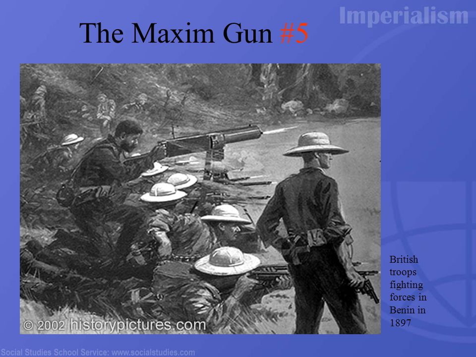 British troops fighting forces in Benin in 1897 The Maxim Gun #5