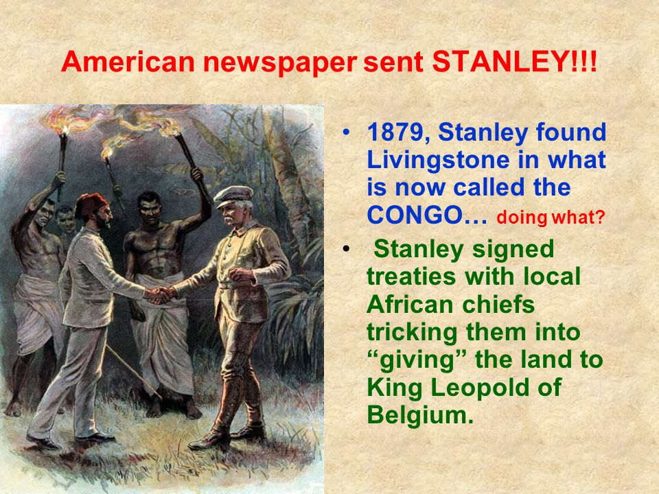 American newspaper sent STANLEY!!.