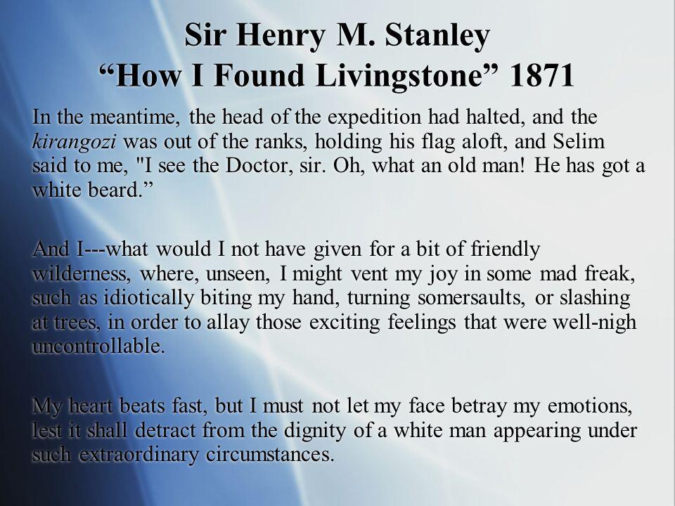 Sir Henry M.