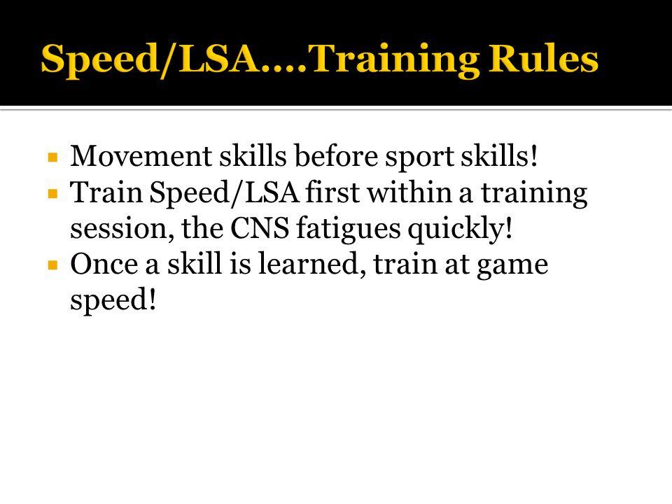  Movement skills before sport skills.