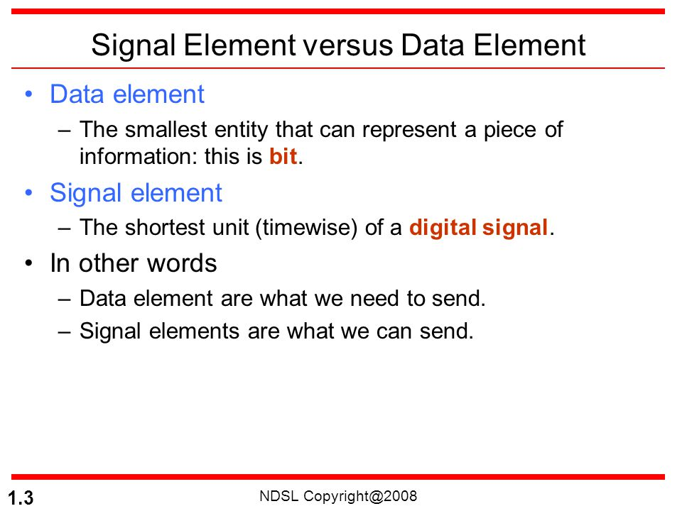 NDSL Copyright@2008 1.14 In a digital transmission, the receiver clock is 0.1 percent faster than the sender clock.