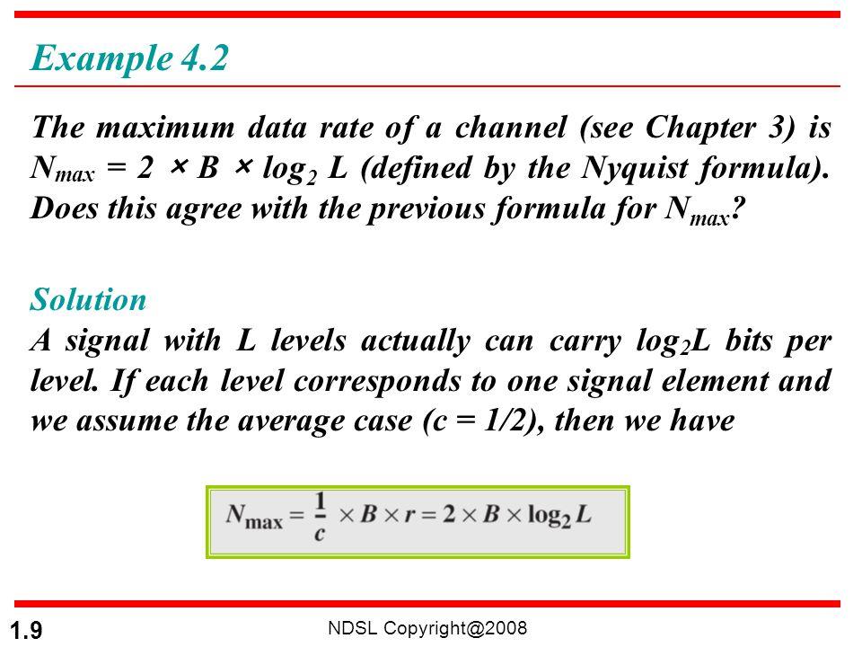 NDSL Copyright@2008 1.70 A complex bandpass signal has a bandwidth of 200 kHz.