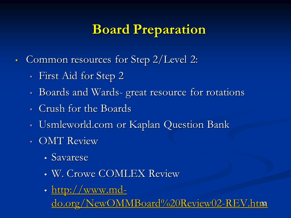 Board Preparation Common resources for Step 2/Level 2: Common resources for Step 2/Level 2: First Aid for Step 2 First Aid for Step 2 Boards and Wards