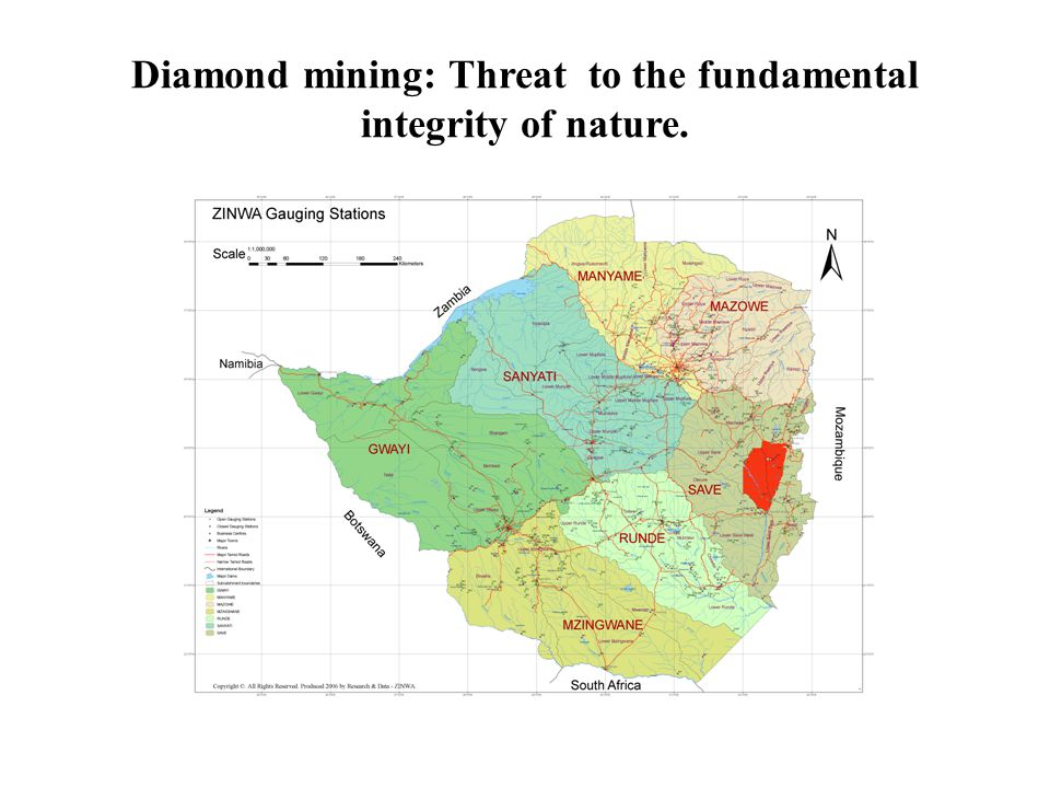 Diamond mining: Threat to the fundamental integrity of nature.