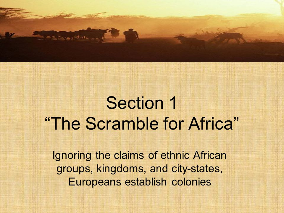 Why Europeans were not interested in Africa until 19 th c.