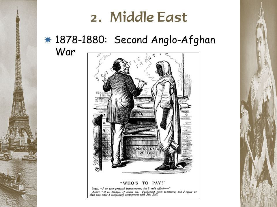 2. Middle East * 1878-1880: Second Anglo-Afghan War
