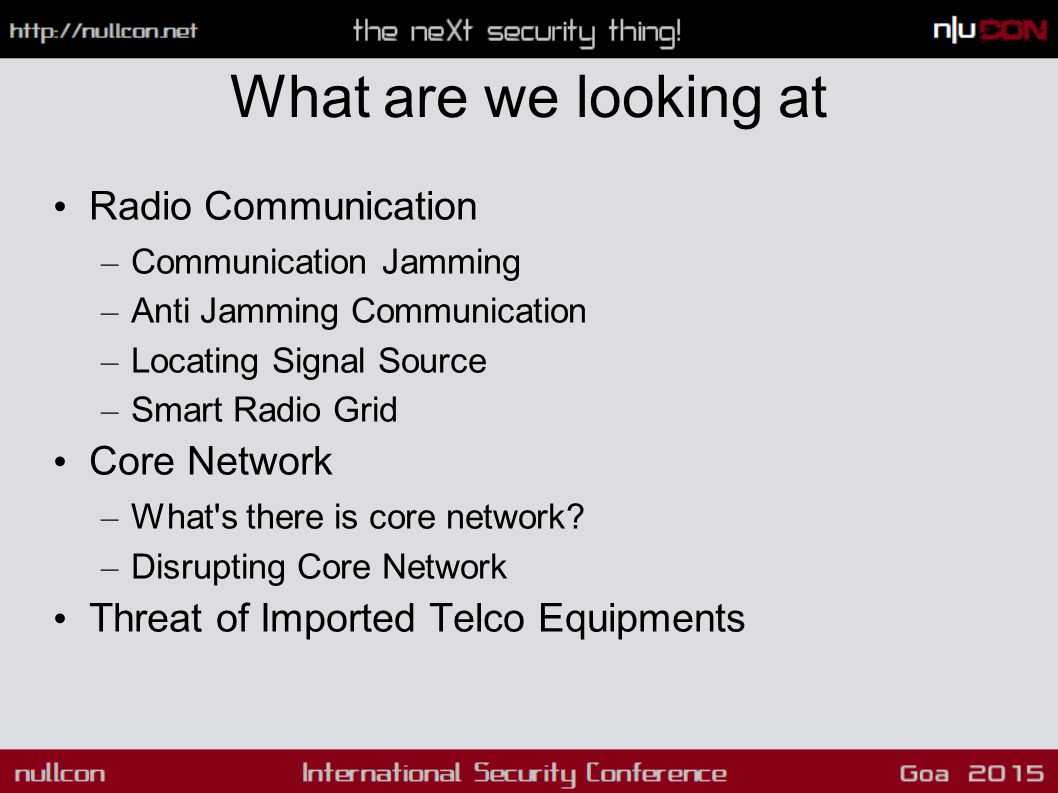 What are we looking at Radio Communication – Communication Jamming – Anti Jamming Communication – Locating Signal Source – Smart Radio Grid Core Netwo