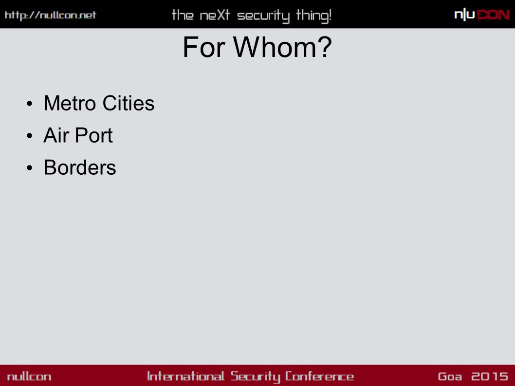 For Whom? Metro Cities Air Port Borders