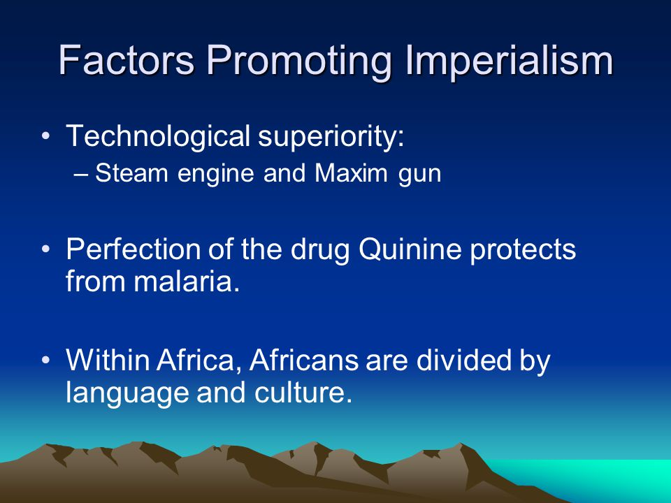 The Division of Africa Began in 1880 Diamonds & gold increased interest.