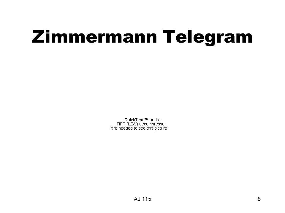 AJ 1158 Zimmermann Telegram