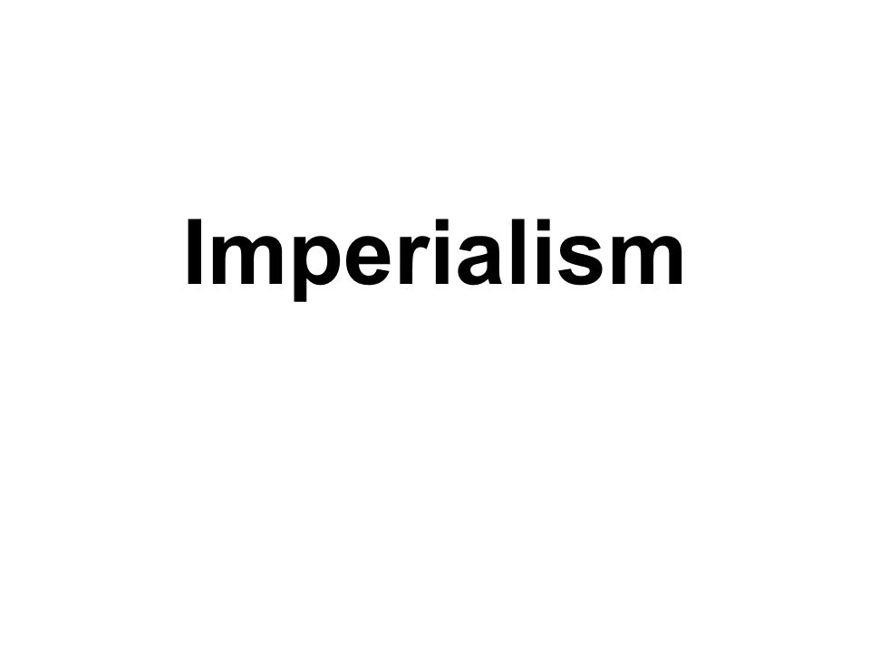 Imperialism and migration during the nineteenth and early twentieth century
