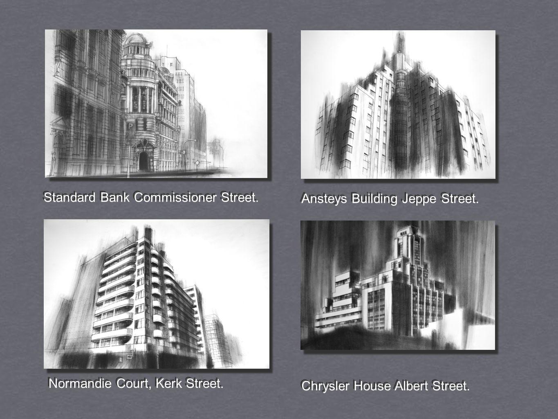 Standard Bank Commissioner Street. Ansteys Building Jeppe Street.